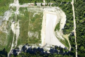 Aerial photo of DeLand cost-share project construction