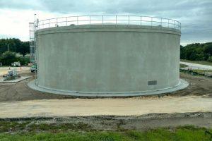 St Aug Beach reclaimed water storage tank