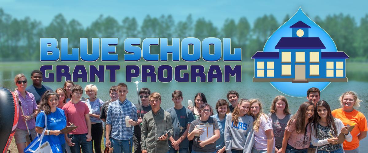 Blue school Grant Pogram banner graphic