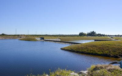 Small water body with weir