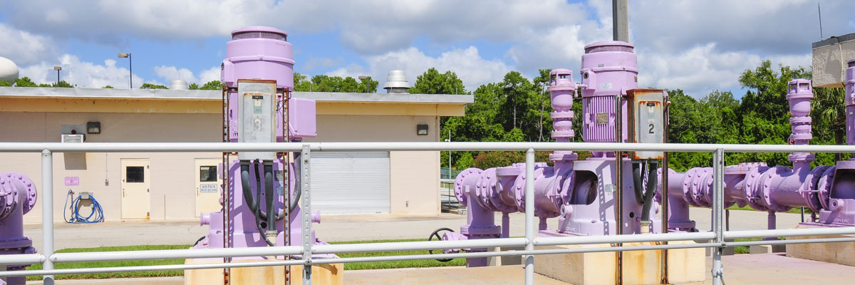 Pumps at the Altamonte Springs reclaimed water facility