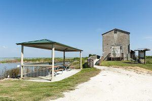 Picnic shelter at the Lake Apoka North Shore