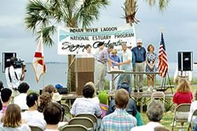Indian River Lagoon National Estuary signing celebration