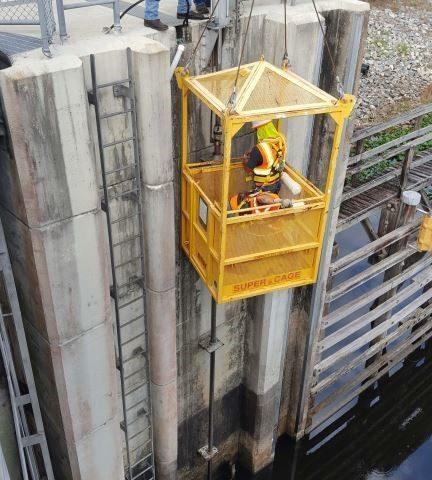 Moss Bluff Dam repair work