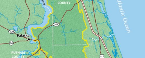 A map of the Tri-county agricultural area