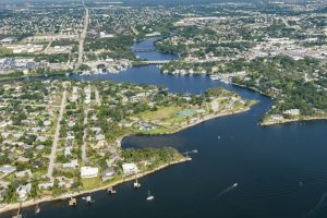 Aerial of the Eau Gallie River