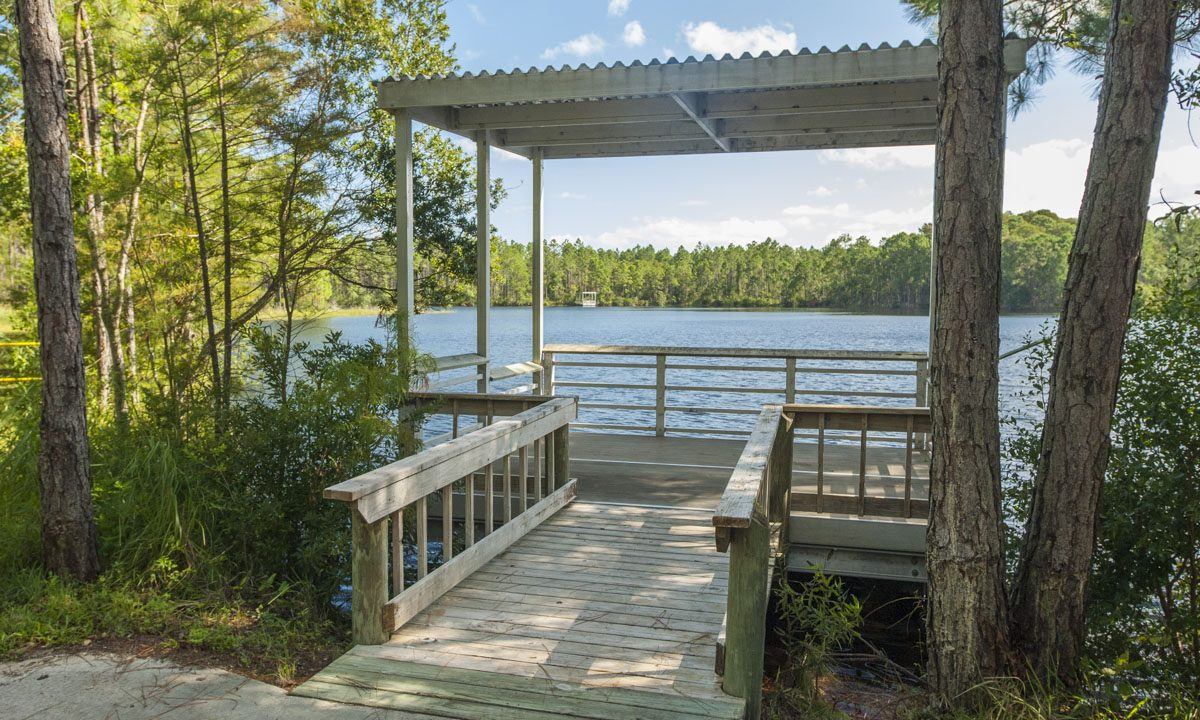 Fishing dock at Pellicer Creek Conservaton Area
