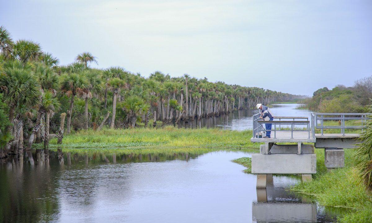 Fishing platform at Fellsmere Grade