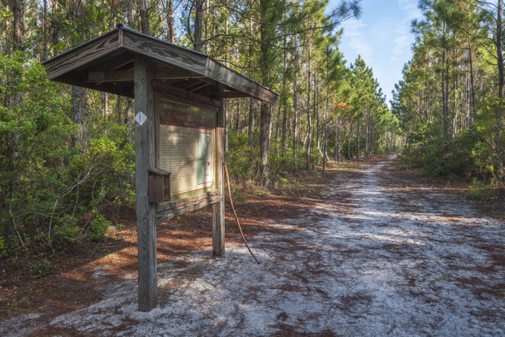 Entrance kiosk at Twelve Mile Swamp Recreation Area