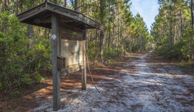 Property kiosk - Twelve Mile Swamp Recreation Area