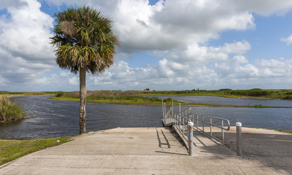 Hatbil Park boat ramp at Seminole Ranch Conservation Are