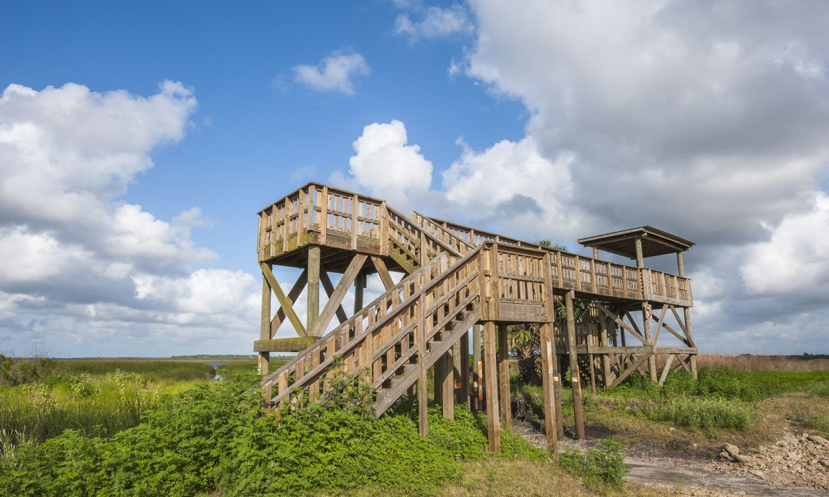 Observation structure at Seminole Ranch Conservation Area