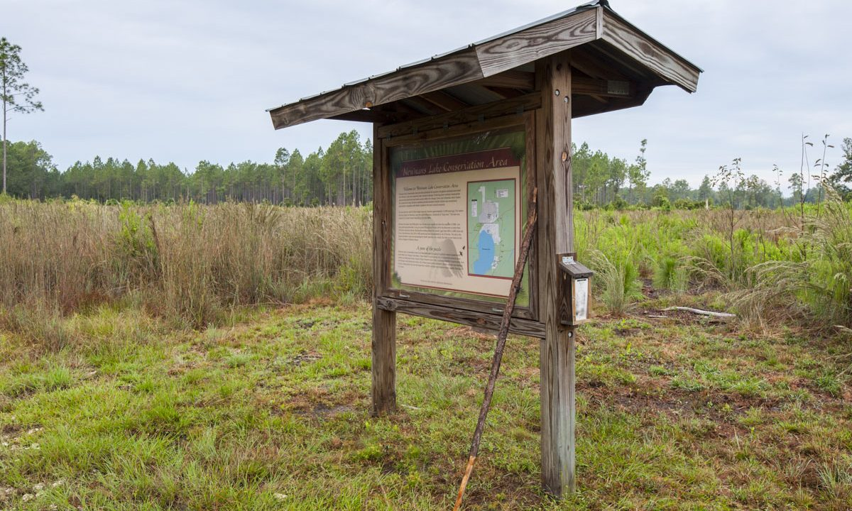 Kiosk at Newnans Lake Conservation Area