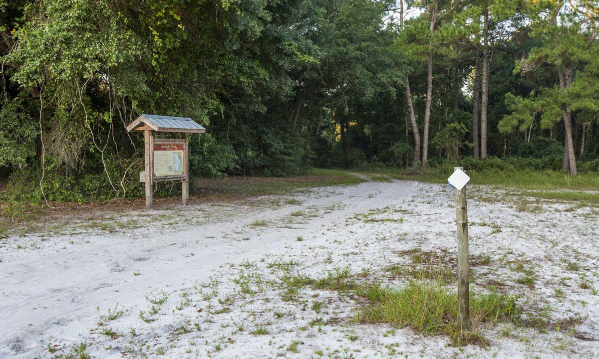 Kiosk and trail at Ocklawaha Prairie Restoration Area