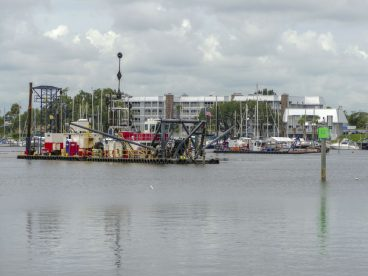 Eau Gallie dredging operation
