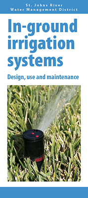 In-ground irrigation systems brochure front cover