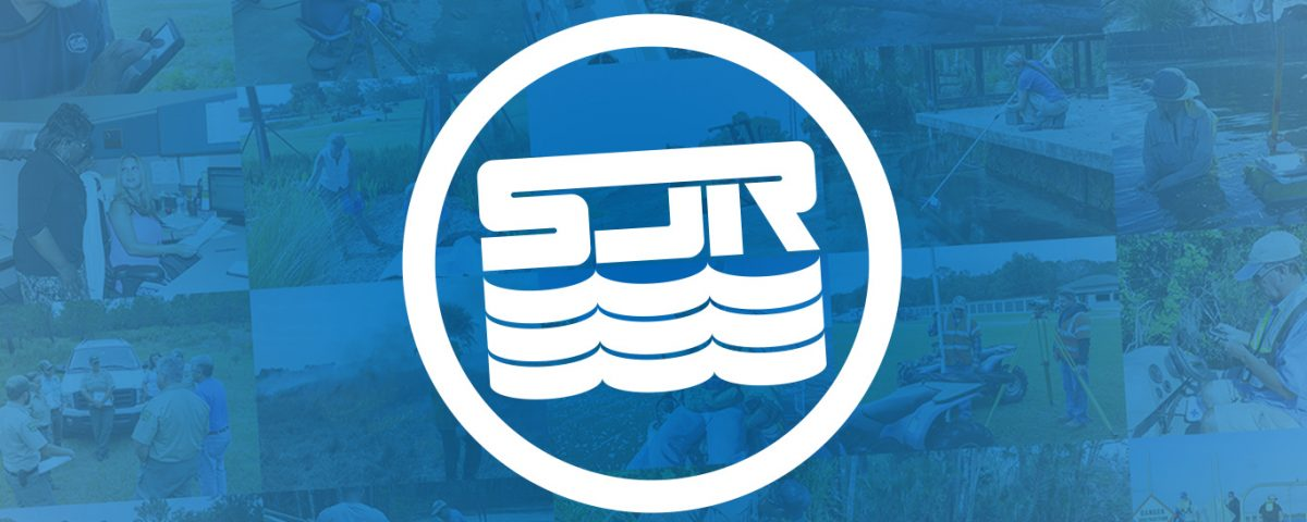SJRWMD logo on a blue background