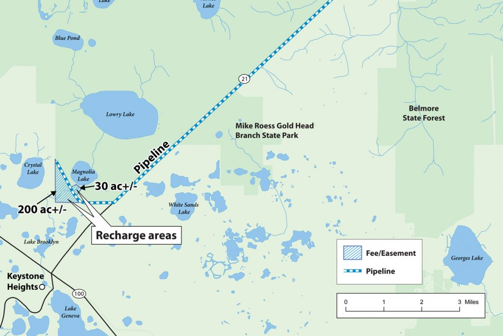 Map of the Black Creek Water resource Development Project