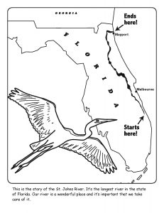 St. Johns River coloring sheet number 1