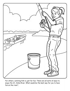 St. Johns River coloring sheet number 16