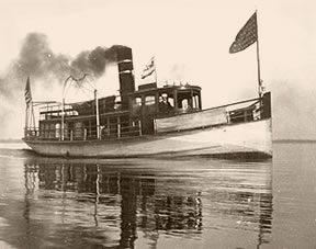 Historic photo of a steamship