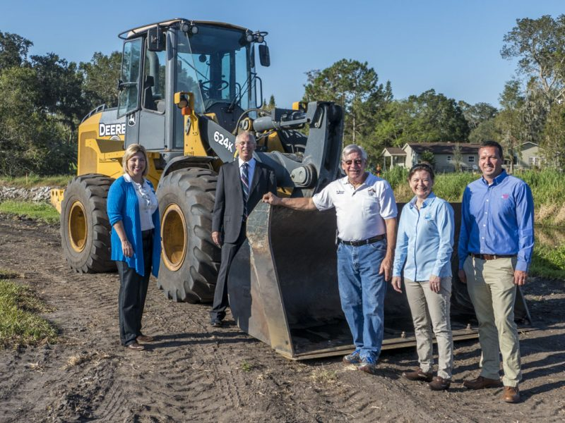 District Chief of Staff Lisa Kelley joined city of Winter Garden officials Sept. 27 at a ceremony kicking off the city's stormwater and reclaimed water project, a district cost-share project.