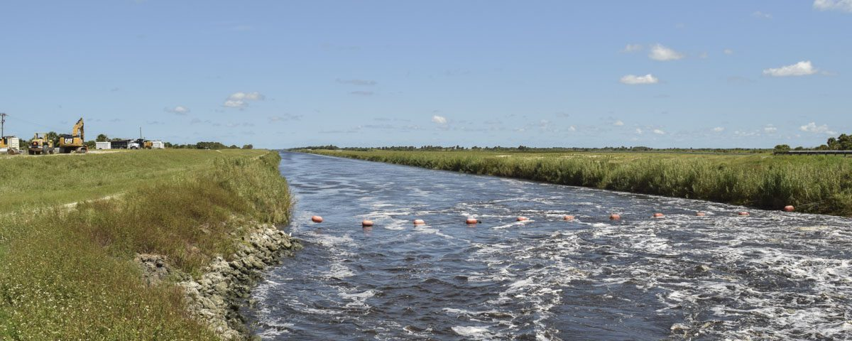 C-54 canal on the border of Brevard and Indian River counties