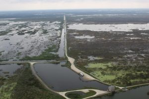 Aerial of the Lake Apopka North Shore after Hurricane Irma