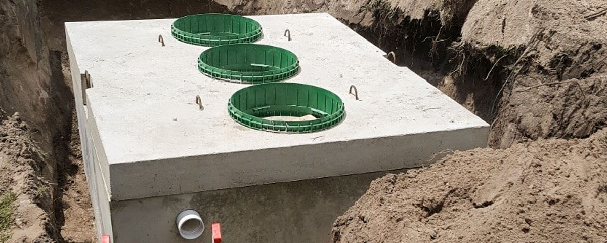 An individual distributed wastewater treatment systems being installed