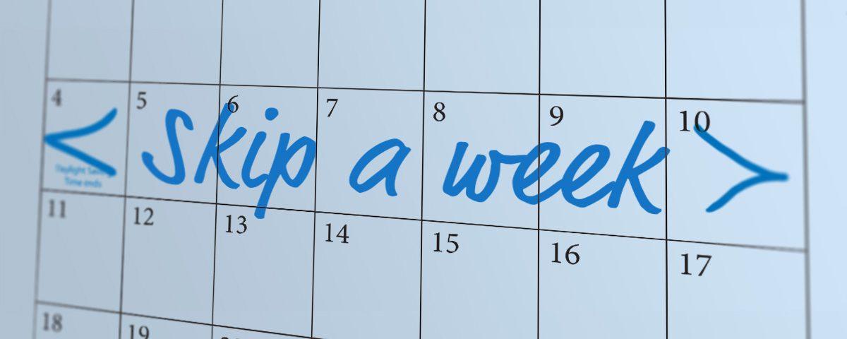 Skip a week calendar graphic