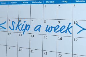 Skip a week calendar graphic