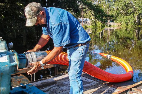 In the wake of Hurricane Irma, district staff worked with local governments and other stakeholders in their recovery efforts by reducing floodwater flows to the north, providing pumps and personnel to lessen localized flooding, and assessing damage from the storm.