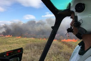 The district will use a helicopter to ignite two prescribed fires today at Three Forks Marsh Conservation Area in Brevard County