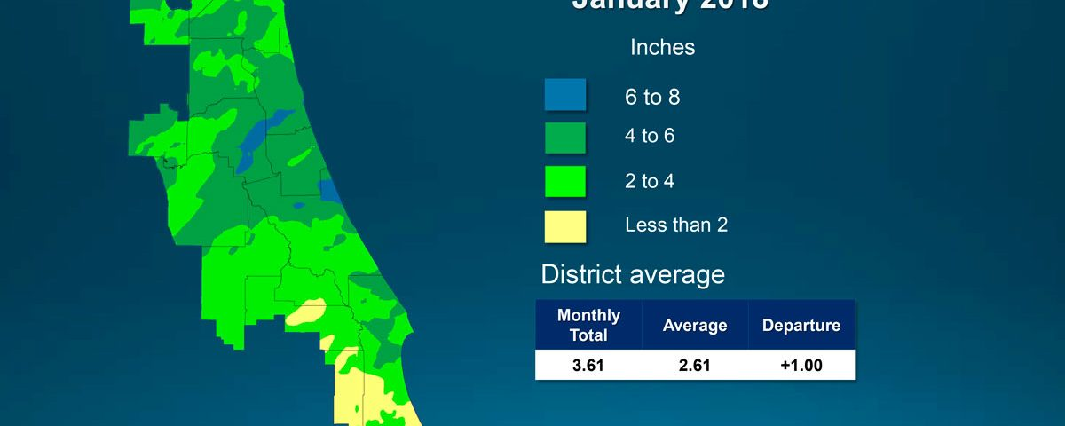 Map of monthly rainfall for January 2018