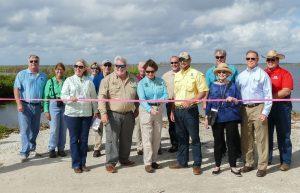 Emeralda Marsh boat ramp ribbon cutting event