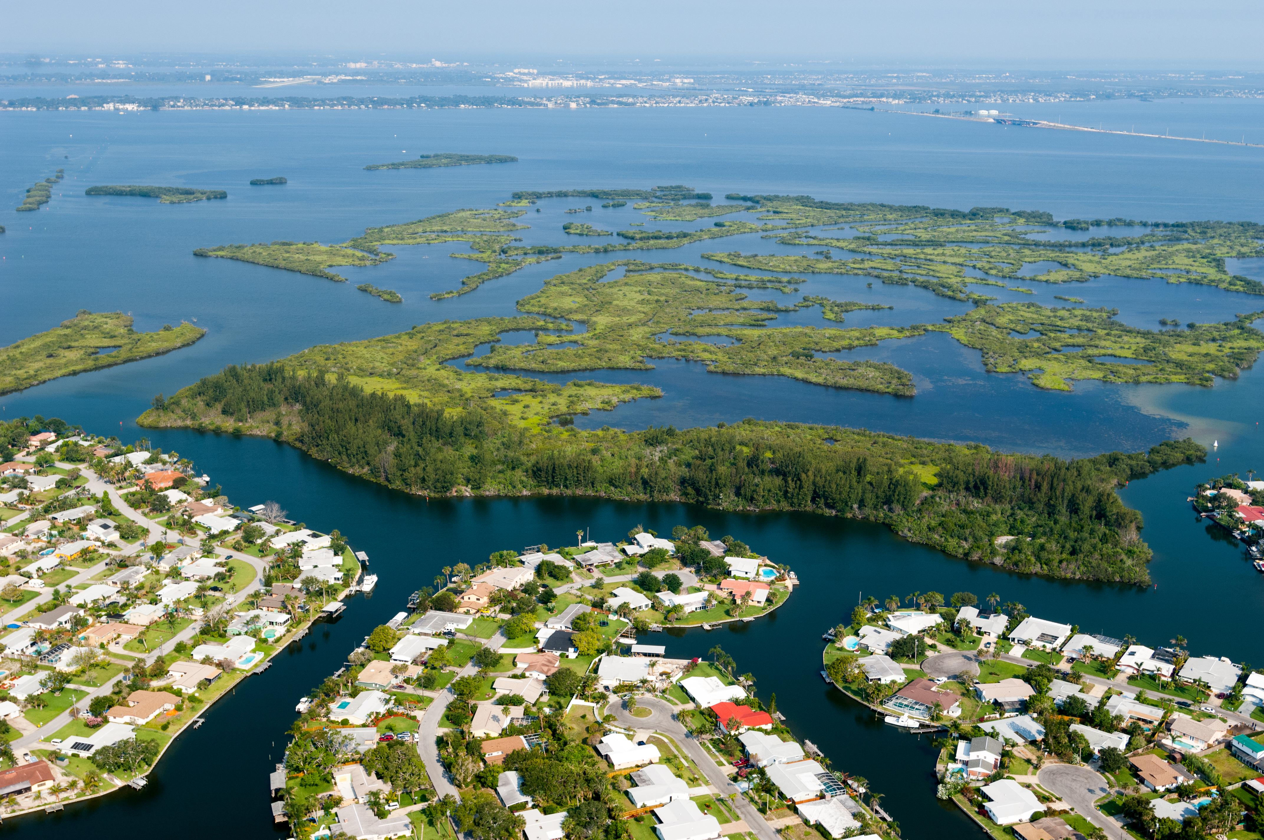 Aerial of development along the Banana River