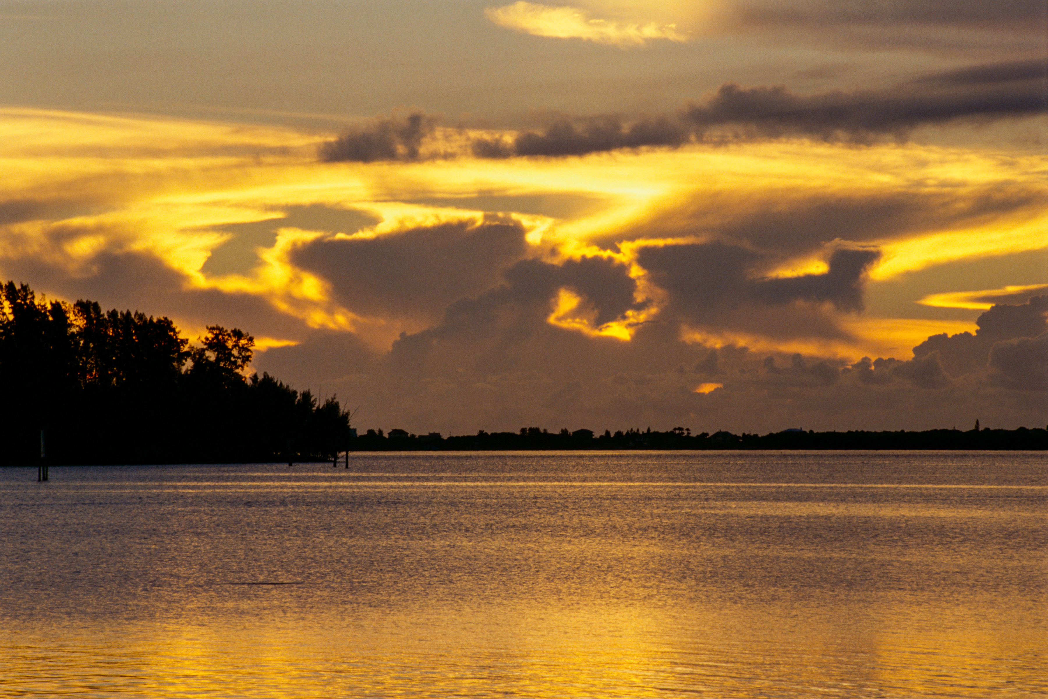 Golden sunrise over the Indian River Lagoon