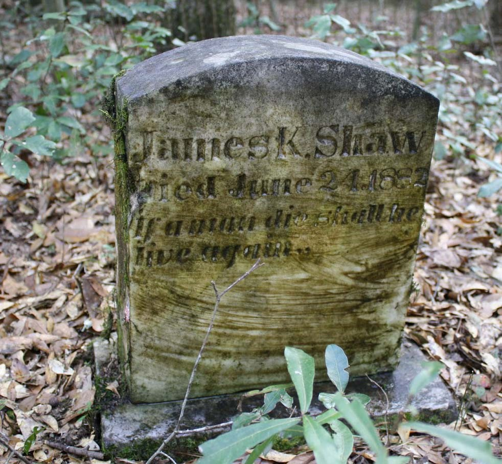 Toombstone for James K. Shaw