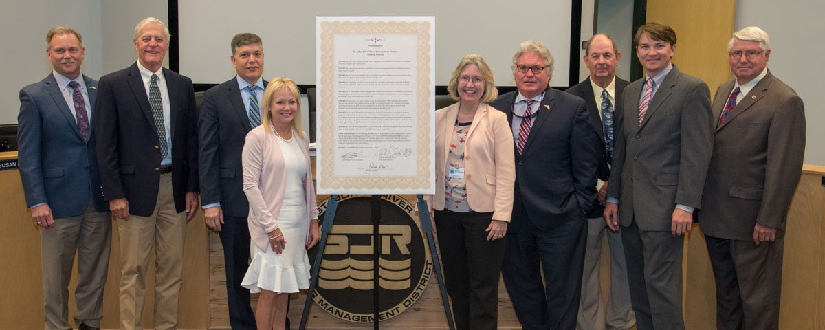 Governing Board Members at the Water Reuse Week proclamation signing event