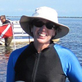 Portrait of Lori Morris working