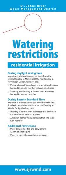 Watering restrictions door hanger