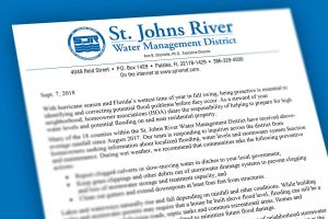 Message to homeowner associations from the St. Johns River Water Management District