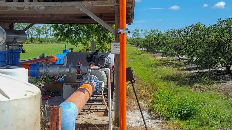 A citrus grower's pump automation project integrated weather stations and soil moisture sensors to conserve water.