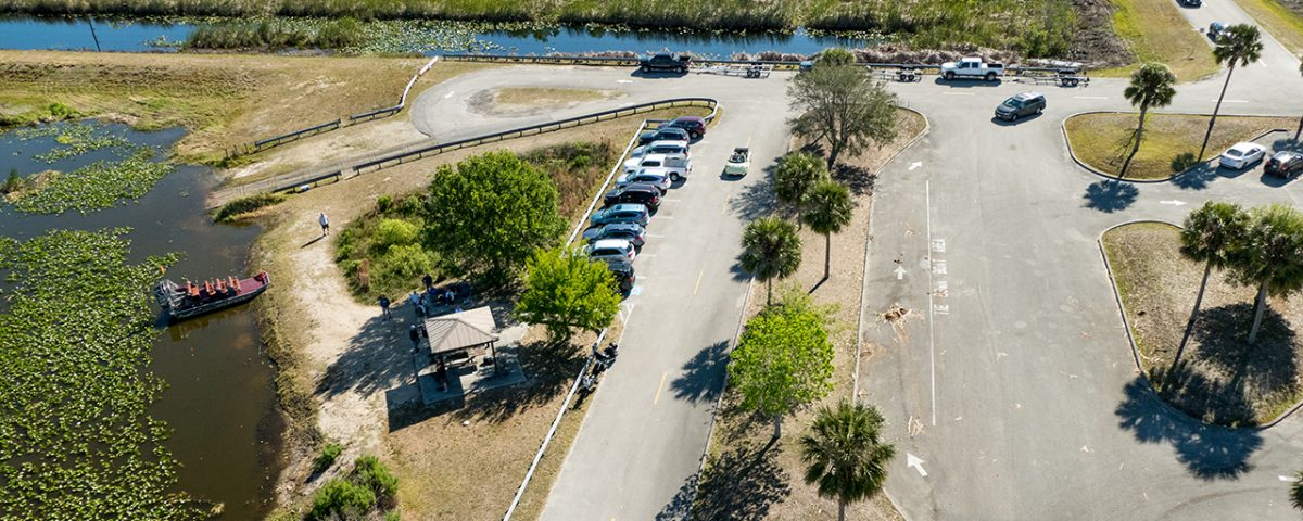Aerial photo of the 512 recreation pad