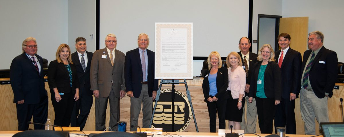 2019 Springs Protection Awareness Month proclamtion signing