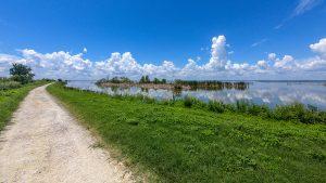 Lake side trail at Lake Apopka North Shore