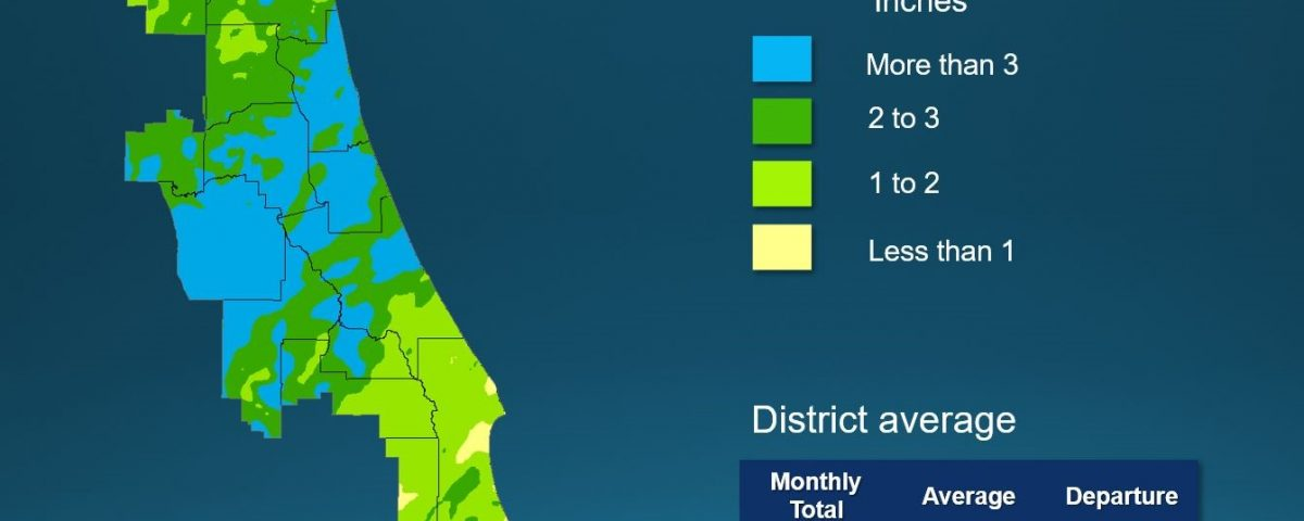 Map of monthly rainfall in April 2019