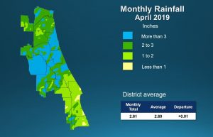 April 2019 Rainfall trends