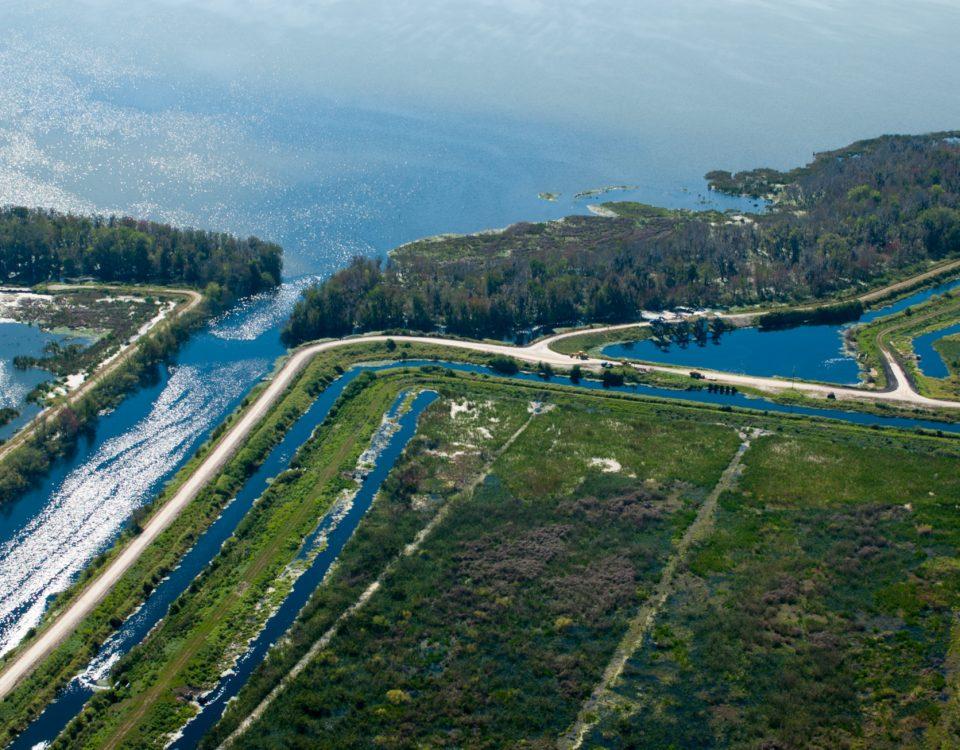 Aerial view of Lake Apopka