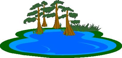 Illustrated lake